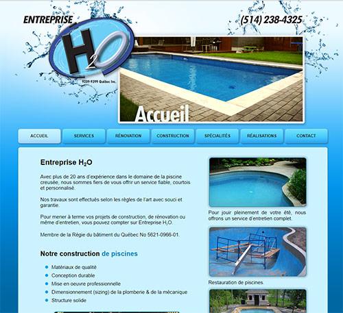Entreprises h2o construction de piscine creus e et for Entreprise piscine